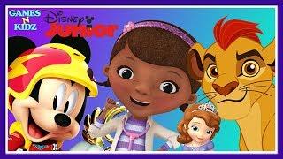 Mickey Mouse, Doc McStuffins, Minnie Mouse, Lion Guard - Puzzle Clips - Disney Junior App Kids Games