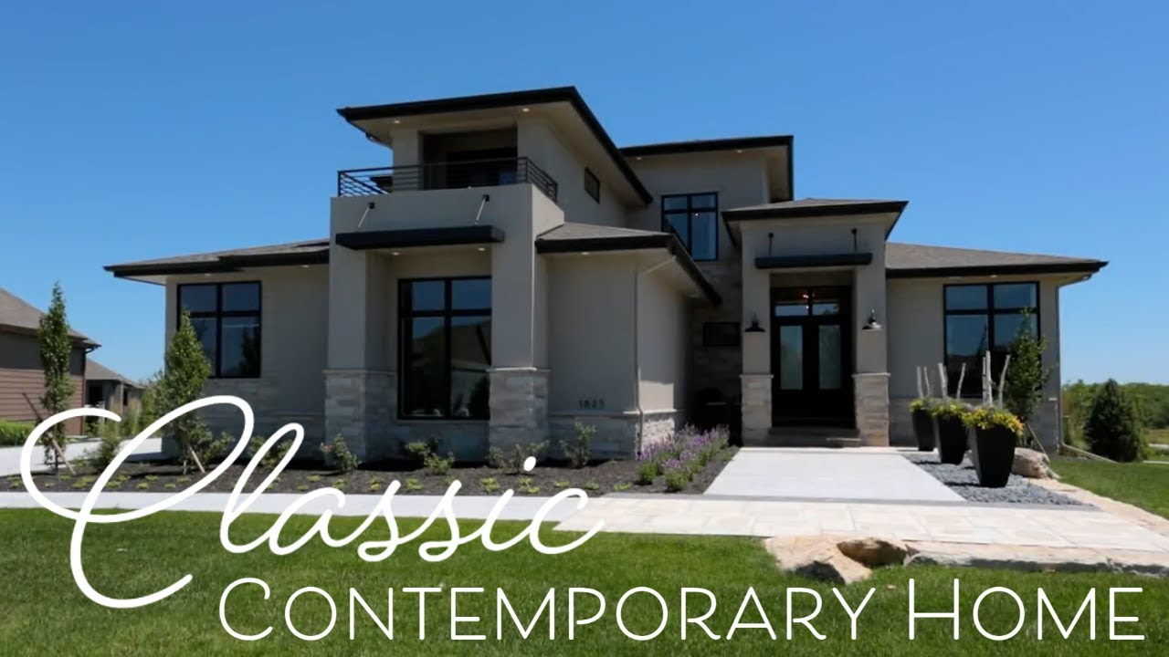 Classic contemporary home interior design by falcone for Classic modern homes