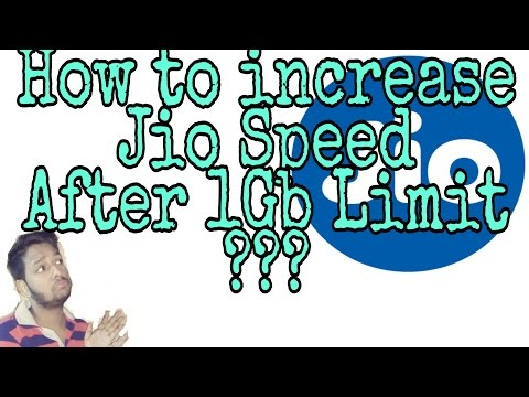 How to increase Jio Speed after 1Gb Limit???|| Fully working ||