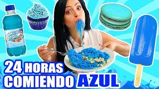 24 HORAS COMIENDO AZUL | RETO SandraCiresArt | All Day Eating Blue Food Challenge