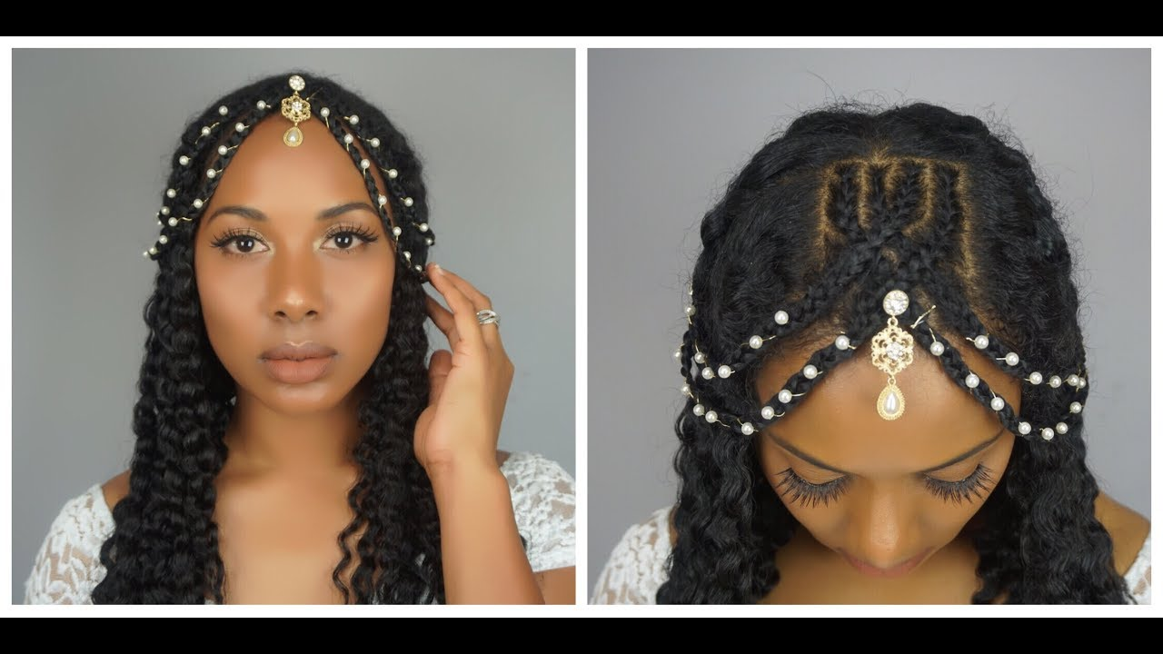 NATURAL HAIR WEDDING HAIRSTYLE l BRAIDED HEADBAND ft. AS I AM - YouTube