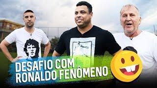 RONALDO E ZICO FAZEM TUTORIAL DE FINALIZAÇÃO E VEGETA DESAFIA O FENÔMENO| Canal Zico 10