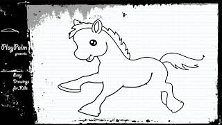 Toy Horse - How to draw a Horse