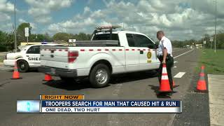 Troopers search for man that caused hit and run