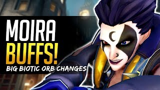 Overwatch HUGE MOIRA BUFF - Biotic Orb changes
