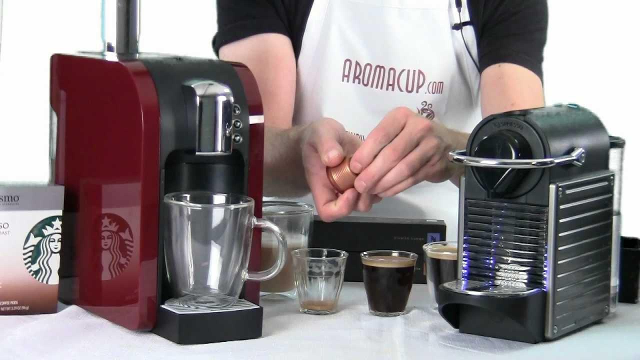 Nespresso Pixie Vs Starbucks Verismo Youtube