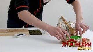 Доставка суши в Омске - Японский домик. Приготовление ролла Фудзи(Оформить заказ: http://yapdomik.ru/catalog/nabory/, 2016-05-19T10:11:40.000Z)
