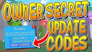 NEW SECRET OWNER ROBLOX MINING SIMULATOR MYTHICAL CODES!