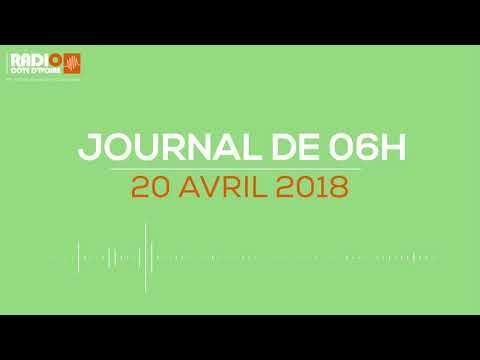 Le journal de 06H00 du 20 avril 2018-Radio Côte d'Ivoire