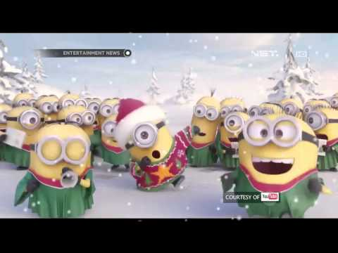 Sambut Natal Minions bernyanyi Jinggle Bells