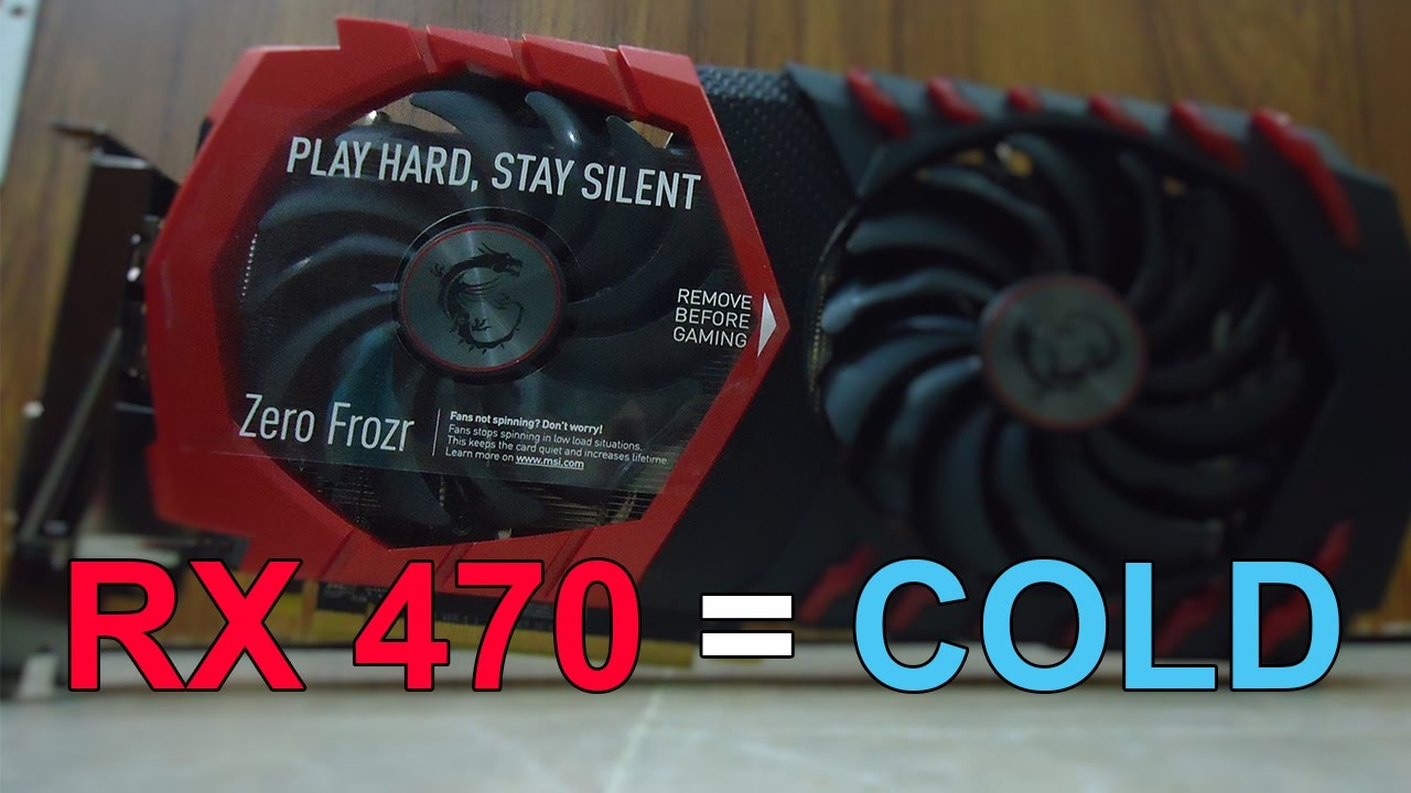 MSI RX 470 Temperature test at max load (cold enough)