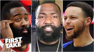 Kendrick Perkins picks James Harden over Steph Curry | First Take