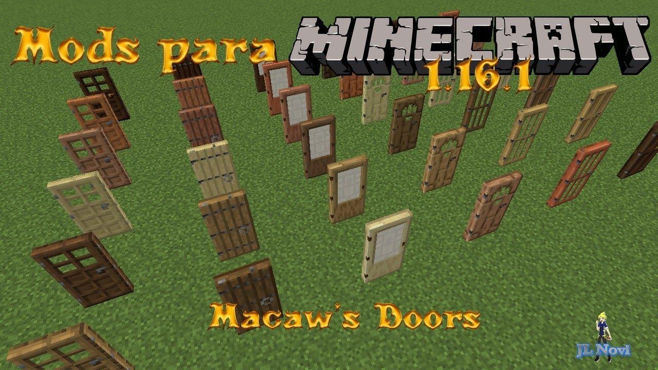 Mods para Minecraft 1.16.1 Macawa's Doors - YouTube