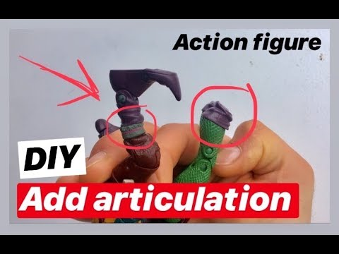 How to add articulation joints to action figures : EASY QUICK TUTORIAL