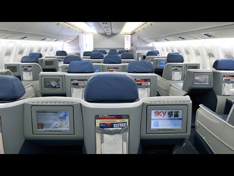 Delta Air Lines Boeing 767 Business Class Brussels to New York