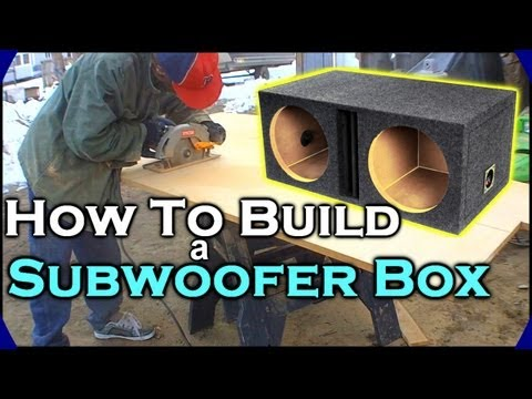 "How To Build A Subwoofer Box | Beginner Car Audio Tutorial - Dual 12"" Custom Ported Sub Enclosure"