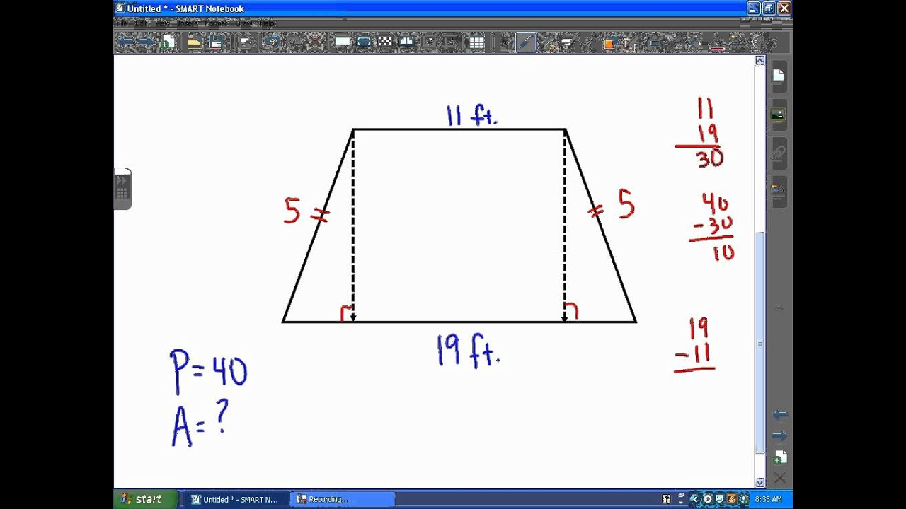 Act math geometry area of an isosceles trapezoid youtube act math geometry area of an isosceles trapezoid ccuart Choice Image