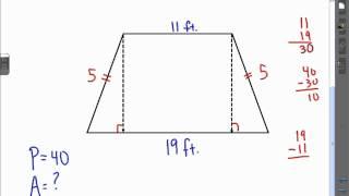 Act Math Geometry Area Isosceles Zoid