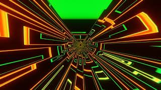 VJ LOOP NEON Green Yellow Abstract Background Video Simple Lines Pattern - Motion 4k Screensaver