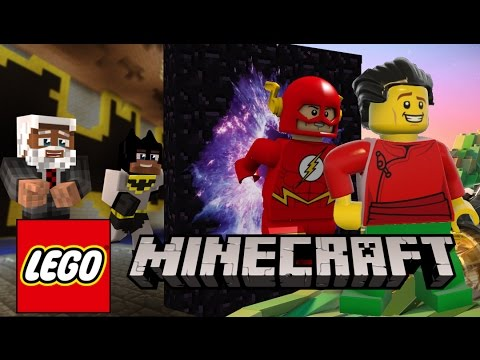 Minecraft: The Flash & Robin Jump into a New Dimension - (Lego worlds Roleplay)