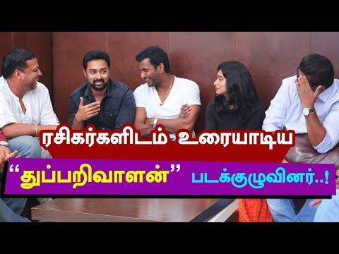"""Thupparivaalan"" Team LIVE Chat with Fans | Vishal | Mysskin | Prasanna"