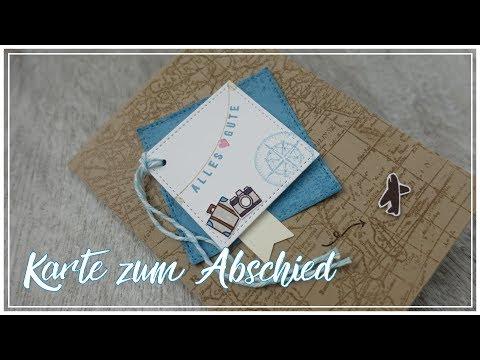 KARTE zum ABSCHIED/REISE selbermachen | Kartenidee | KREATIV TUTORIAL