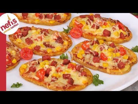 Hamurla Uğraşmadan 5 Dakikada Fırında ⚡ Efsane Patates Pizzası