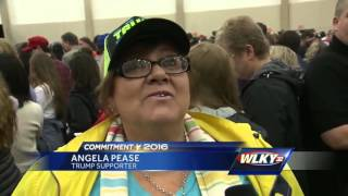 Donald Trump holds a rally in Louisville