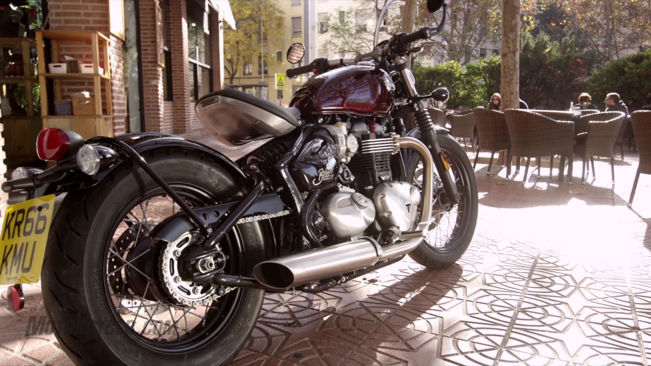 2017 triumph bonneville bobber review - youtube