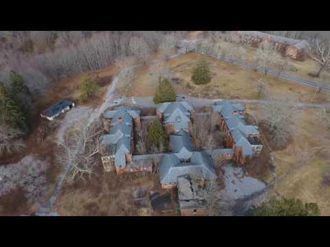 DJI Phantom 4 over the abandoned Norwich State Hospital