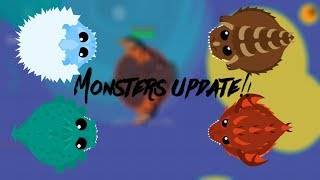 MONSTER GAMEPLAY!! // LAND MONSTER 1v1 // MOPE.IO