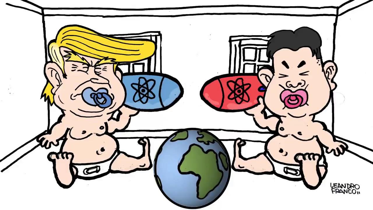 Donald Trump vs. Kim Jong-un - YouTube