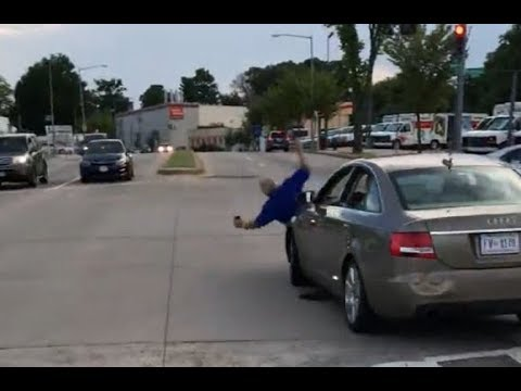 LADY BUST OUT BUS WINDOWS AND RUNS OVER MAN. WASHINGTON D.C.
