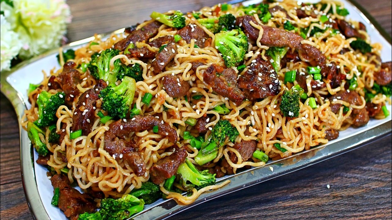 Beef And Broccoli Stir Fry Noodles Recipe Easy Beef Stir Fry Noodles Youtube