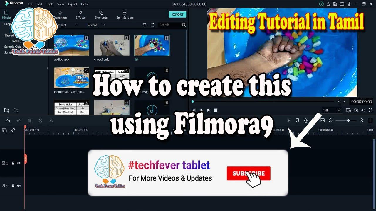 Subscribe & Bell Animation Button using Filmora9 in Tamil | Filmora9 Tutorial in Tamil 2020