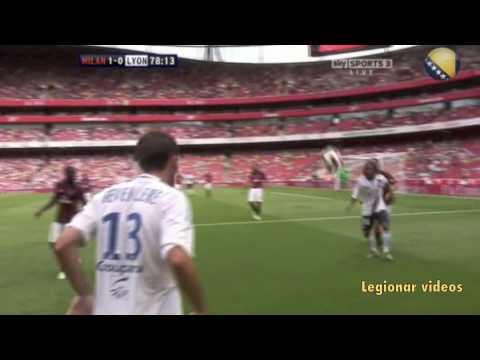 Miralem Pjanic Vs Milan (Extended Highlights) (Emirates Cup ::: AC MILAN 1-1 LYON) 2-8-2010