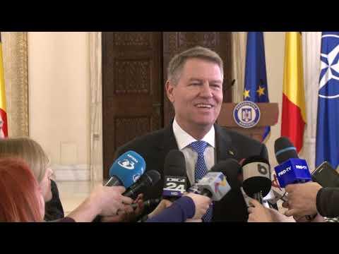 Declarațiile presedintelui Klaus Iohannis din 14.01.2019