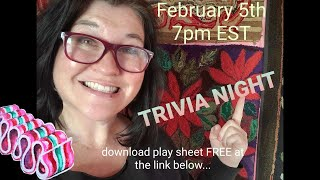FIRST EVER TRIVIA NIGHT! Rug Hooking &amp General Knowledge - play for fun!