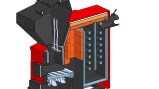 видео Твердотопливный котел длительного горения Энергия ТТ экономит 50 %