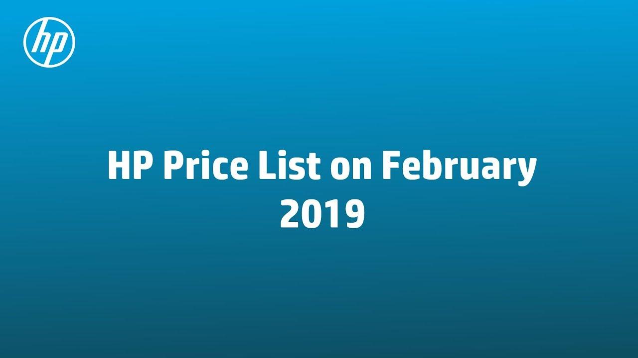 HP Laptop Price list on February, 2019