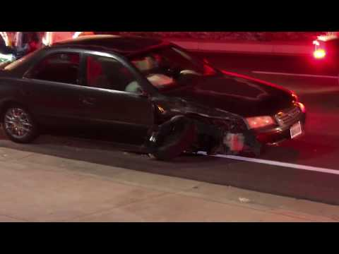 Car vs Cop SUV Traffic Collision