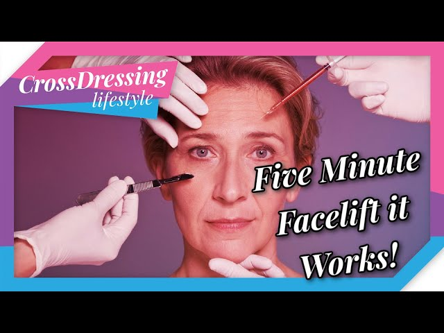 face lift in 5 minutes no surgery and no pain Art Hardings face lift tapes | Crossdressing Secrets