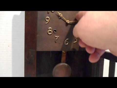 Antique 8 Day E Ingraham Mission Oak Shelf Clock Laredo Model