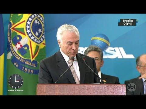 Inquérito que investiga Temer no caso dos Portos é prorrogado | SBT Notícias (28/02/18)