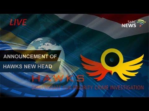 Police Minister Fikile Mbalula announces a new head of the Hawks