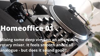 Mixing Deep House and Dub Techno Vinyl on Omnitronic TRM 202 MK3 Rotary Mixer