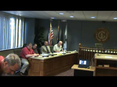 Greensburg IN City Planning Commission mtg of 4-19-16