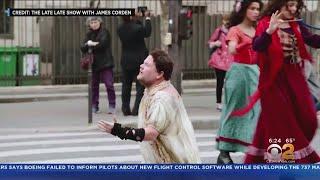 Corden Takes 'Crosswalk The Musical' To Paris