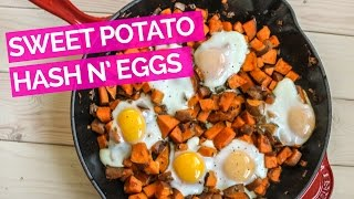 Spicy Sweet Potato Hash and Eggs Recipe