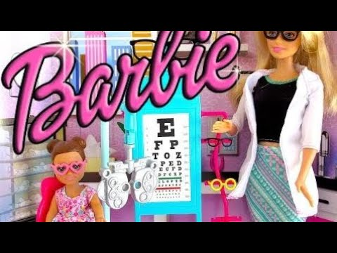 Barbie Doll Goes to Barbie EYE Doctor with Baby Annabelle! 🎀